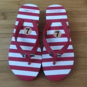 Pink Bow Flip Flops Sandals